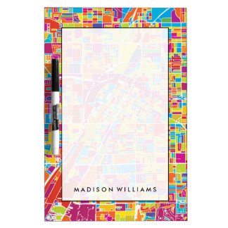 Colorful Las Vegas, Nevada Map Dry-Erase Whiteboards