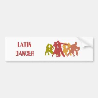 Colorful Latin Dancers Car Bumper Sticker