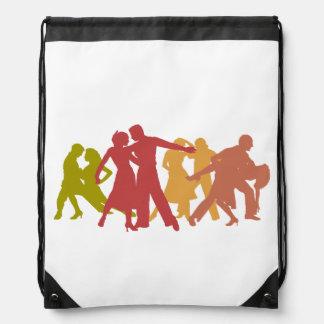 Colorful Latin Dancers Drawstring Bag