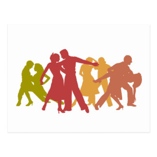 Colorful Latin Dancers Postcard