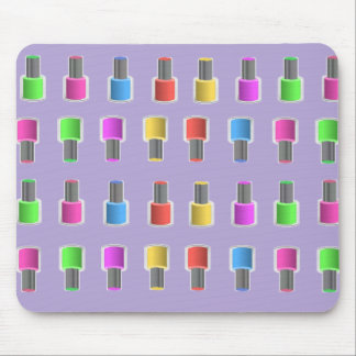 Colorful Lavender Nail Polish Bottles Mousepad