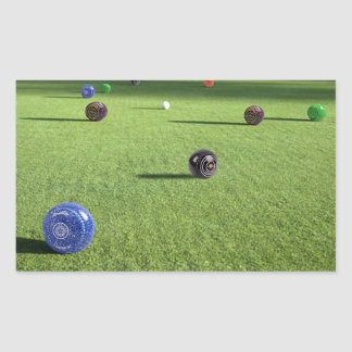Colorful_Lawn_Bowls,_ Rectangular Sticker