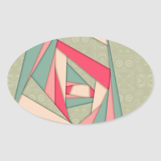 Colorful Layers Collage Oval Sticker