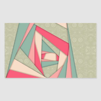 Colorful Layers Collage Rectangular Sticker