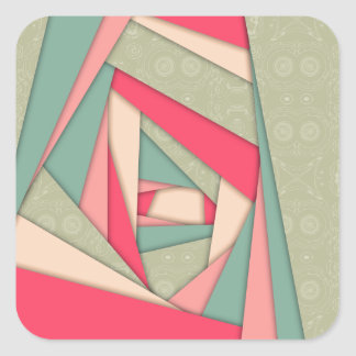 Colorful Layers Collage Square Stickers