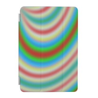 Colorful layers of lines pattern iPad mini cover