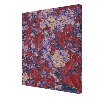 Colorful leaf and flower camouflage pattern canvas print