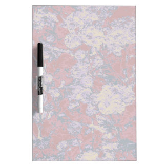 Colorful leaf and flower camouflage pattern dry erase board