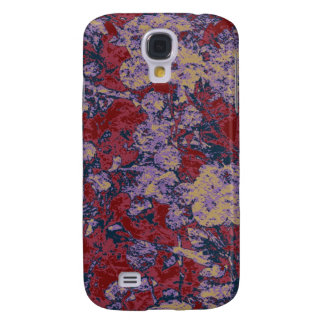 Colorful leaf and flower camouflage pattern galaxy s4 case