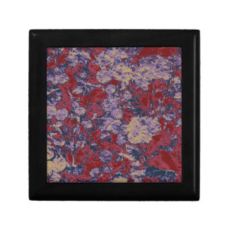 Colorful leaf and flower camouflage pattern gift box