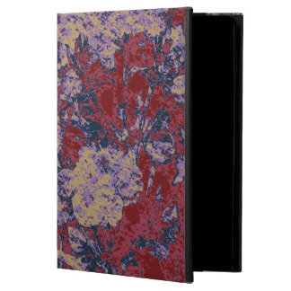 Colorful leaf and flower camouflage pattern iPad air cases