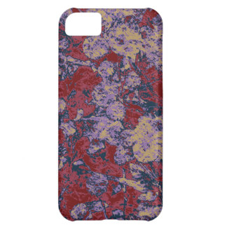 Colorful leaf and flower camouflage pattern iPhone 5C case