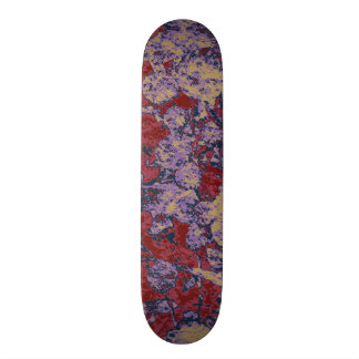 Colorful leaf and flower camouflage pattern skateboards