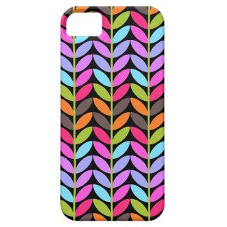 Colorful Leaf Pattern Design iPhone 5 Cases
