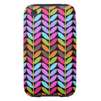 Colorful Leaf Pattern iPhone 3 Tough Covers