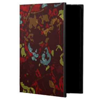 Colorful leaves and flowers against camouflage case for iPad air