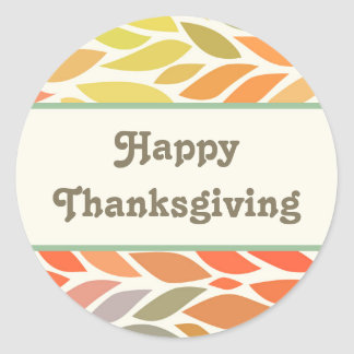 Colorful Leaves Happy Thanksgiving Sticker