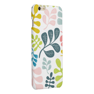 Colorful Leaves Modern Foliage Pattern iPhone 6 Plus Case
