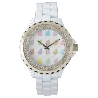 Colorful leaves pattern watch