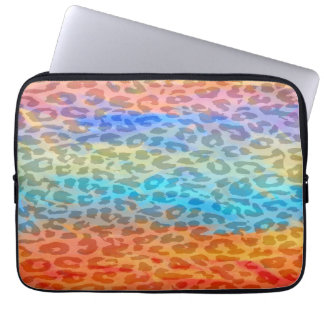 Colorful Leopard Print Skin Laptop Computer Sleeves