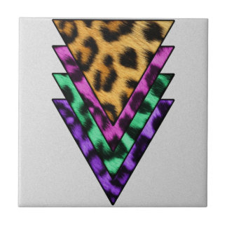 Colorful Leopard Triangles Tile