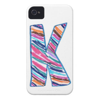 Colorful Letter K as in Kay iPhone 4 Case-Mate Cases