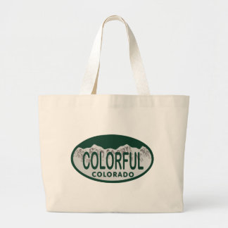 Colorful license oval bags