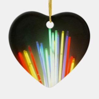 colorful life ceramic heart decoration
