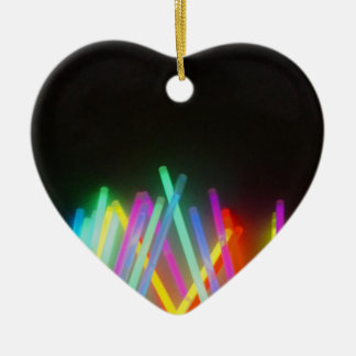 colorful life ceramic heart decoration