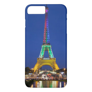 Colorful light display on the Eiffel Tower iPhone 8 Plus/7 Plus Case