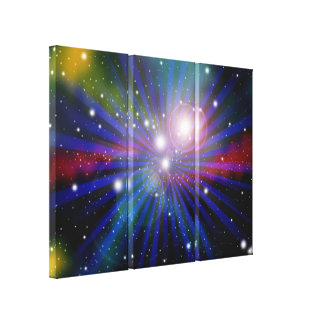 Colorful Light Galaxy Art Design Abstract 2 Gallery Wrapped Canvas