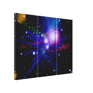 Colorful Light Galaxy Art Design Abstract Stretched Canvas Prints