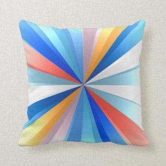 Colorful Light Rays Art Design Cushions