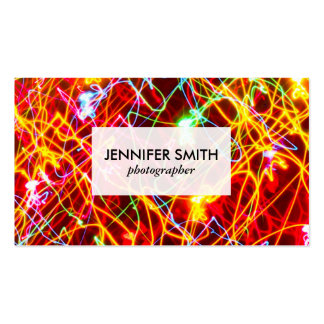 Colorful Light Trails Pack Of Standard Business Cards