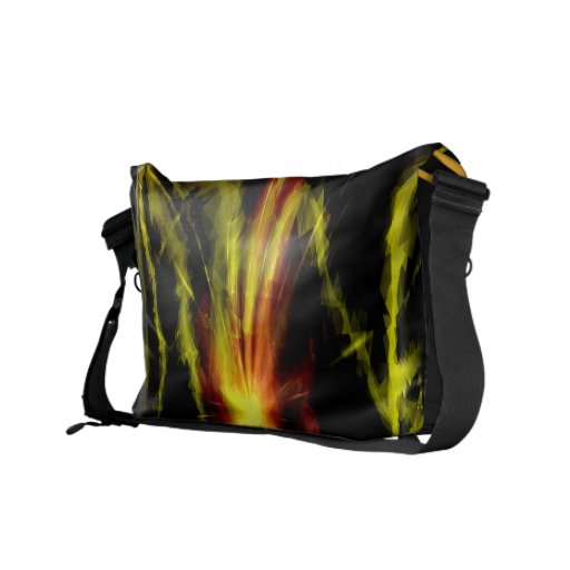 Colorful lightning bolts and fire - Messenger Bags