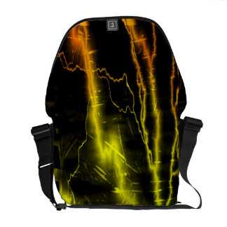 Colorful lightning bolts - Messenger Bags