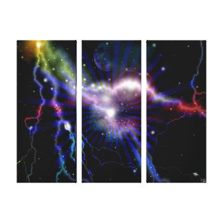 Colorful Lightning Galaxy Art Design Abstract 2 Canvas Print