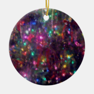 Colorful Lights Impression Christmas Ornament
