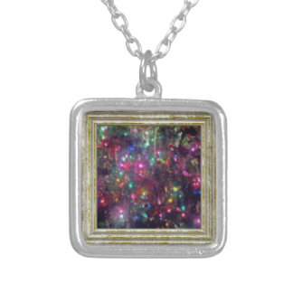 Colorful Lights Impression Silver Plated Necklace