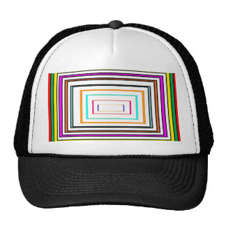 Colorful Line Art Sq Rectangle Graphics KIDS fun99 Cap