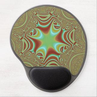 Colorful line messy pattern gel mousepad
