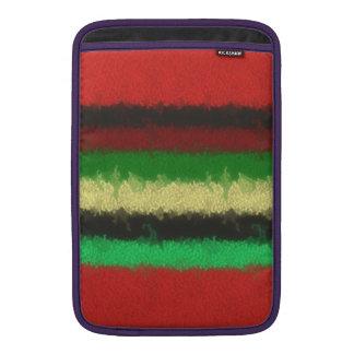 Colorful line pattern MacBook sleeve