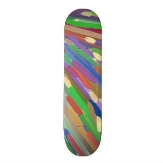 Colorful line pattern skate board