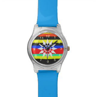 Colorful line pattern watch