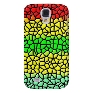colorful line stained glass galaxy s4 case