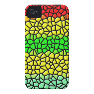 colorful line stained glass iPhone 4 Case-Mate case