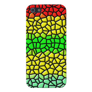 colorful line stained glass iPhone 5/5S covers