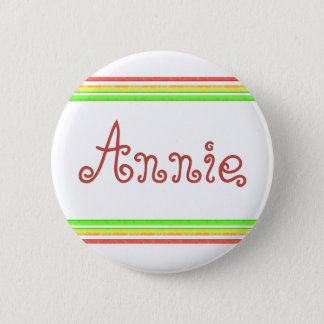 colorful lines 6 cm round badge