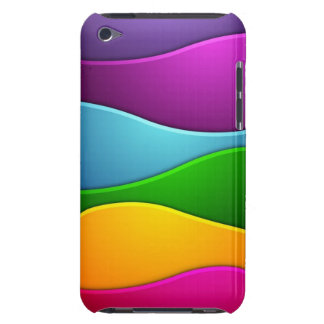 Colorful lines barely there iPod covers