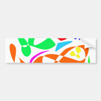 Colorful Lines Bumper Stickers
